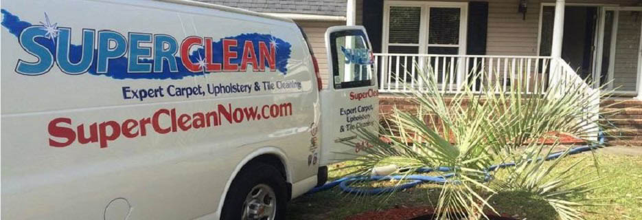 SuperClean mobile van in your neighborhood banner