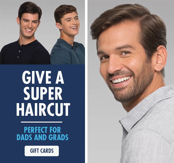 Mens haircut and color supercut logo