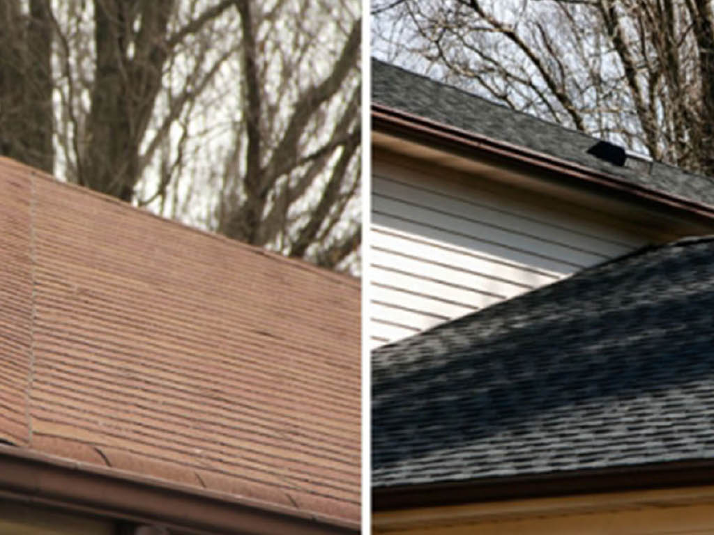 Superior Home Improvement before and after new roof