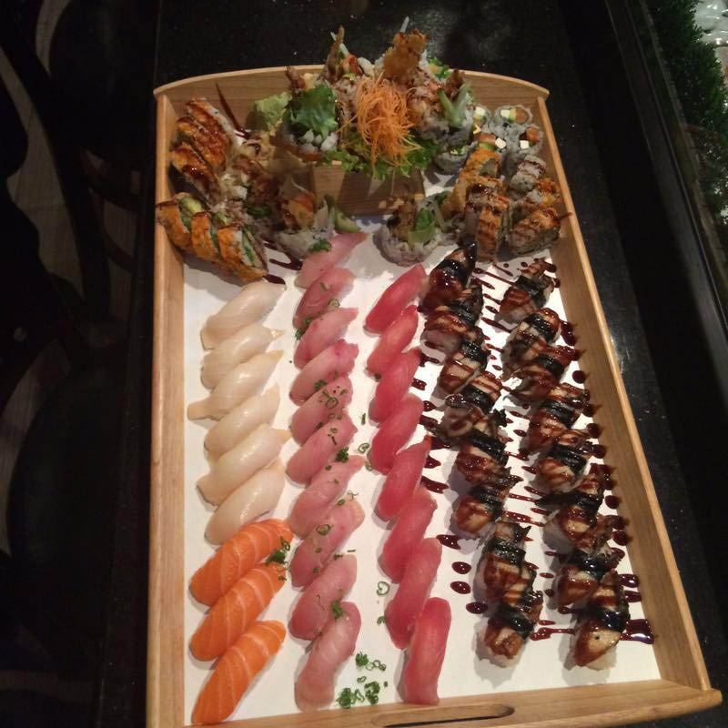 Sushi boat all you can eat in Sugar Land