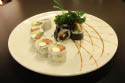 Beautifully plated Asian fusion foods near Center Moriches
