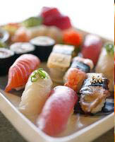 Try a sampler plate of fine sashimi and sushi pieces