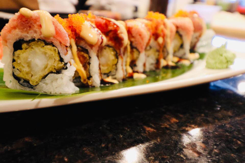 spicy sushi roll from Sushi Lin