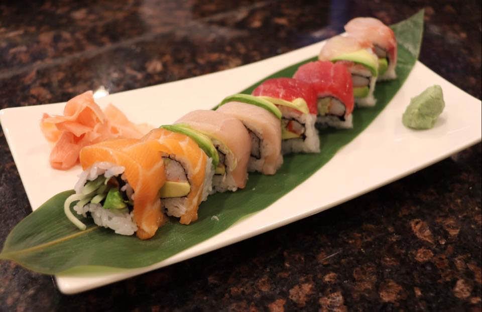 assorted sushi from local Japanese restaurant in Sahuarita