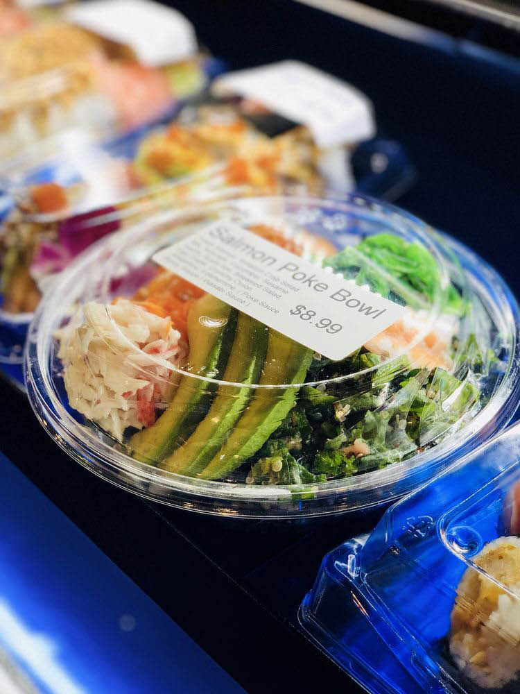 Poke bowl, healthy food, healthy lunch