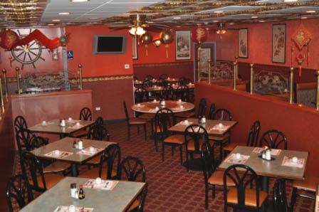 Interior of House of Szechwan Restaurant in Des Plaines