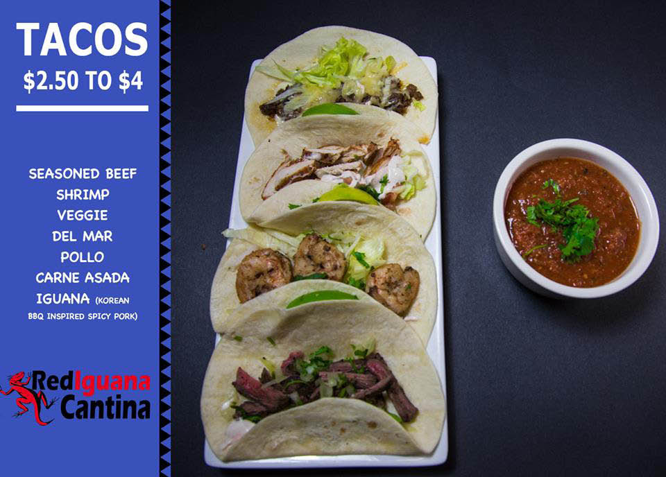 Taco Time! Head over to Red Iguana Cantina Kennesaw and try one of our delicious tacos!