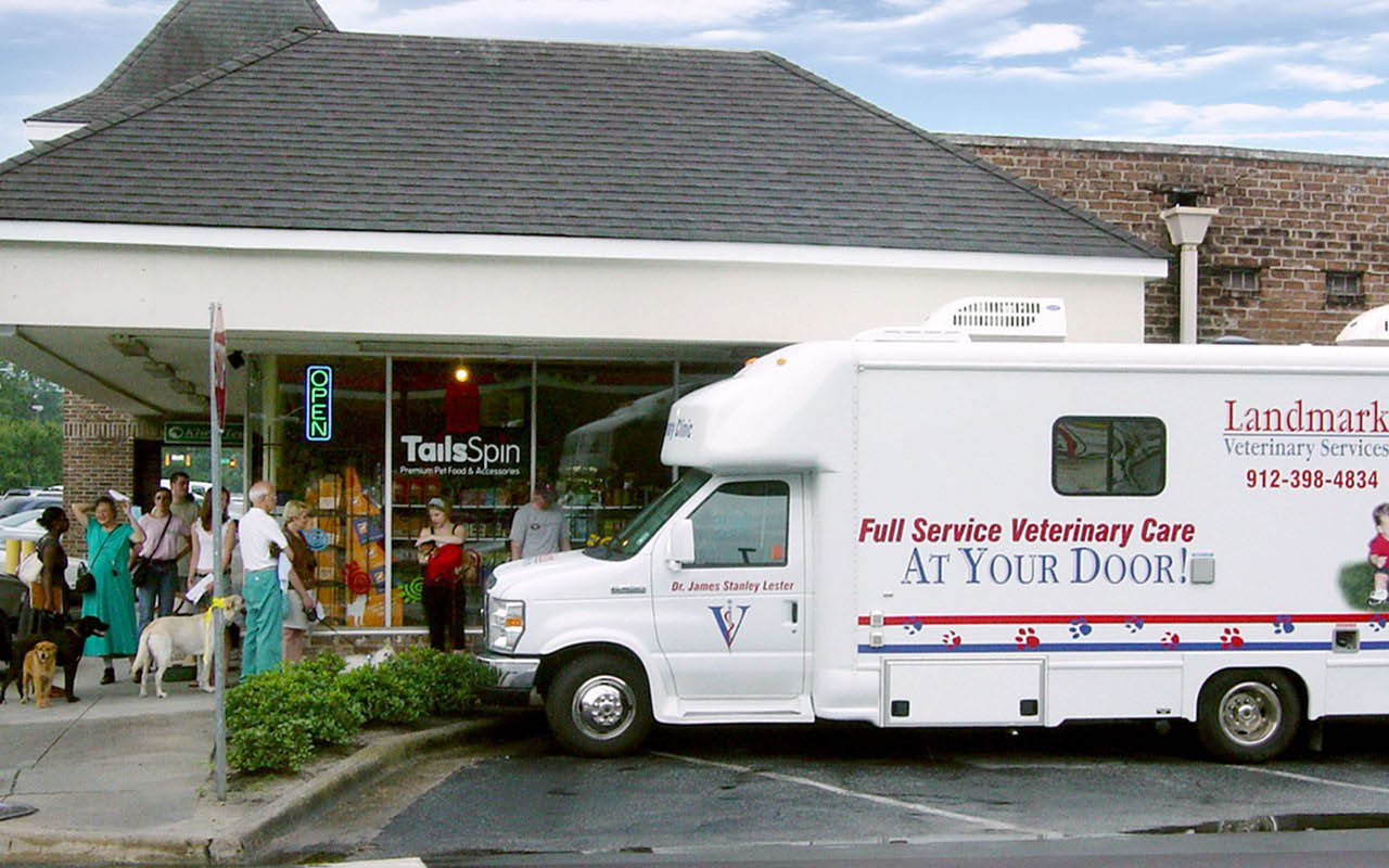Mobile Veterinary Service; Full Service Vet Care; TailsSpin Savannah GA