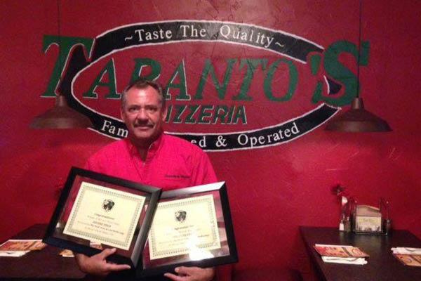Taranto's Pizza local food awards