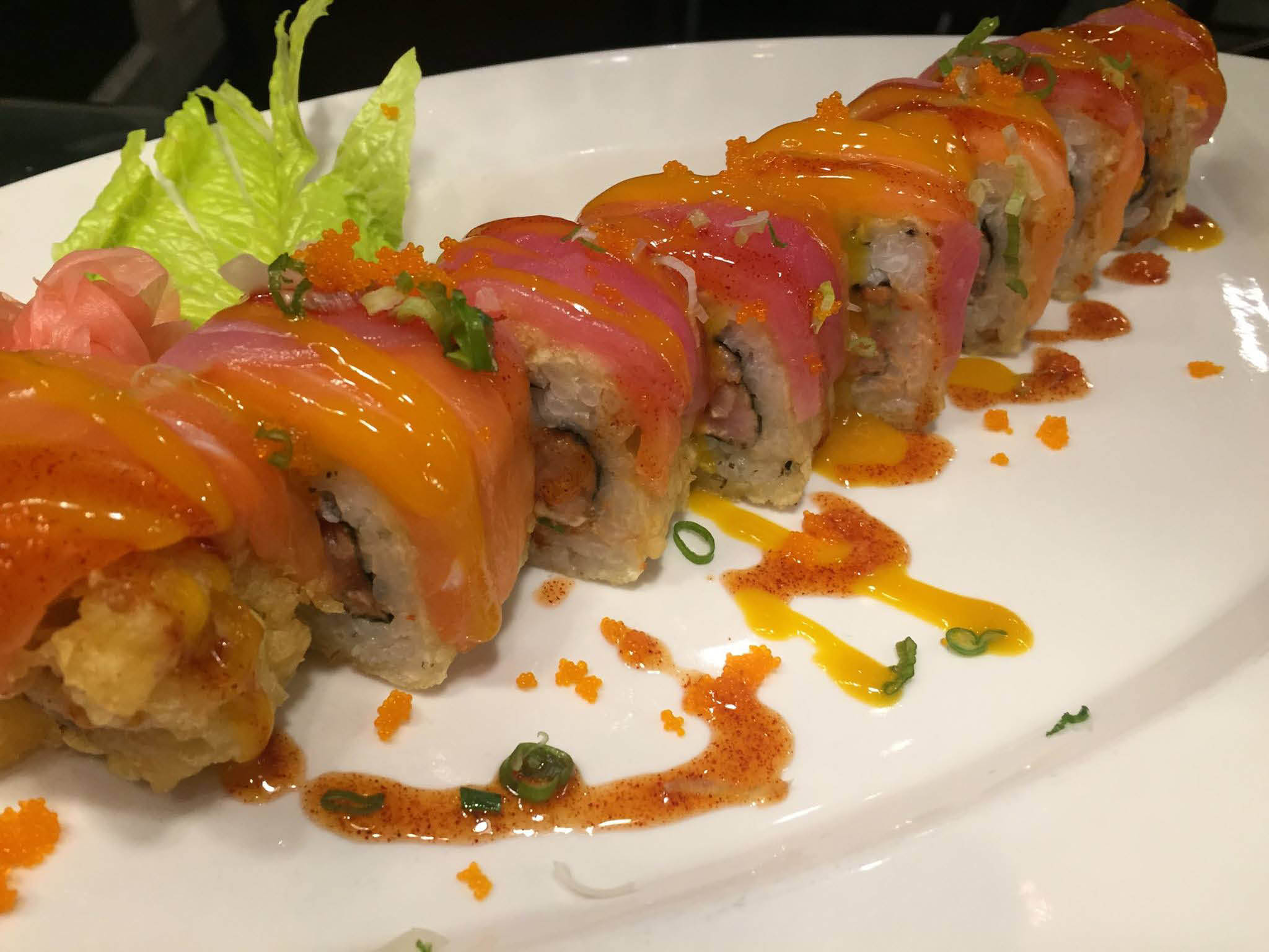 Savory sushi rolls at Tasty Fusion Restaurant in Summerville
