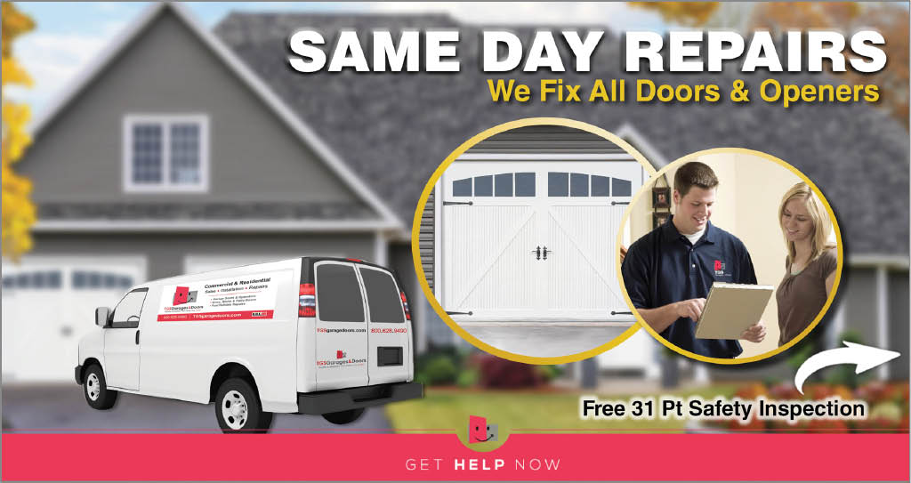 Same Day Repairs-We fix all doors & openers with our fully stocked trucks.