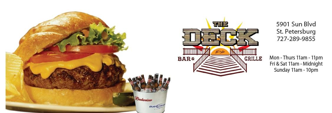 The Deck Bar & Grille in St. Petersburg banner