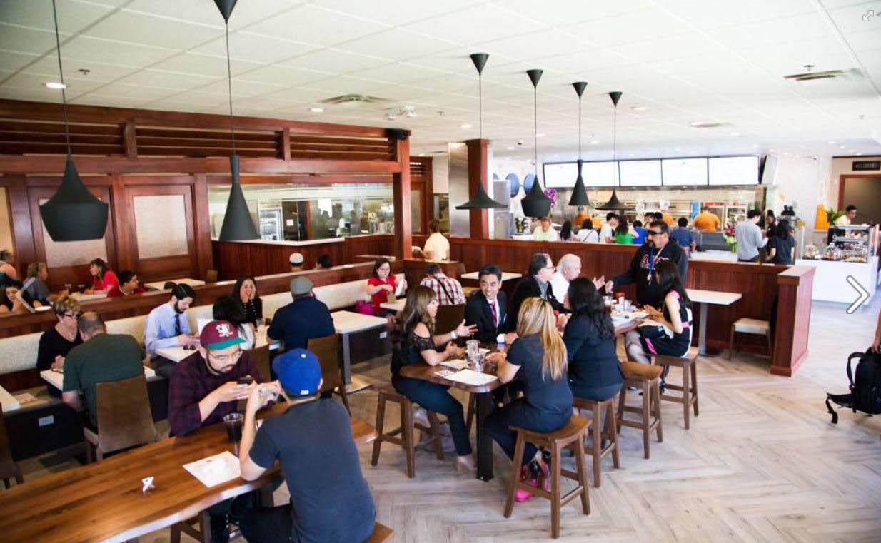 Full restaurant interior at The Food Hub near Walnut