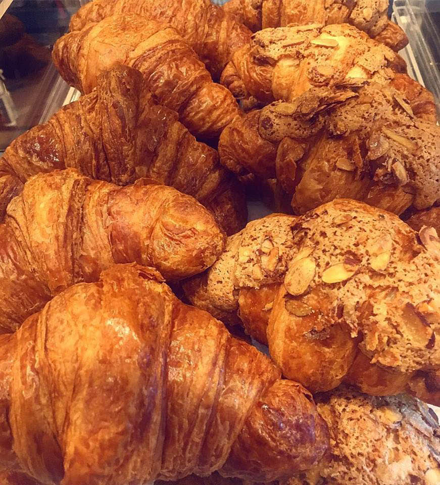 croissants, pastry, muffins, coffee, breakfast, coffee house