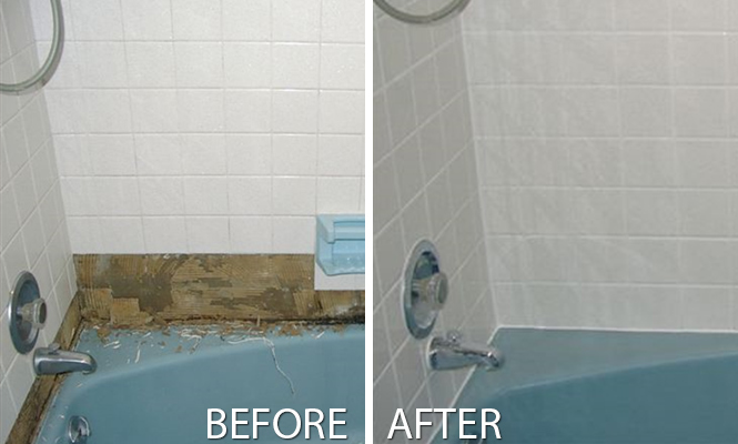 Before and after regrouting project revitalizes in Waterloo
