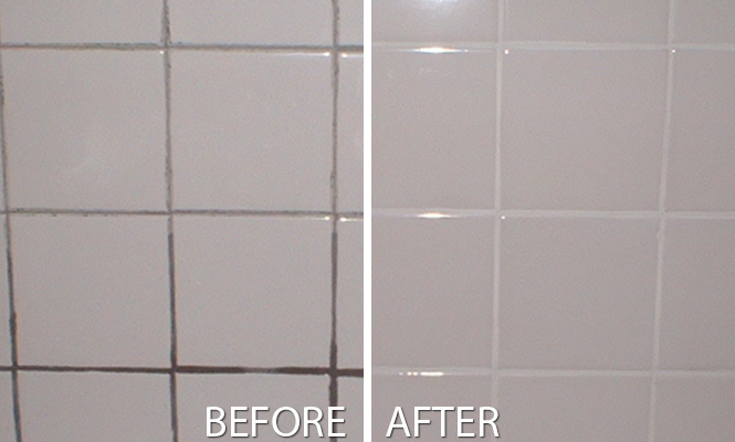 After effects of grout cleaning in Green Meadows
