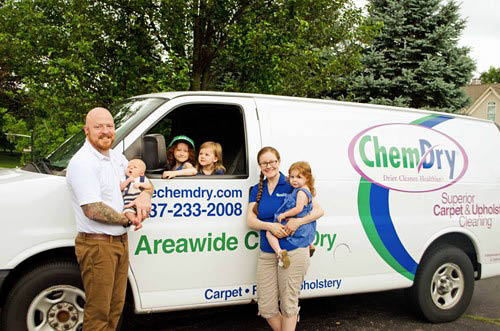 the hamp family owners of area wide chem dry dayton ohio