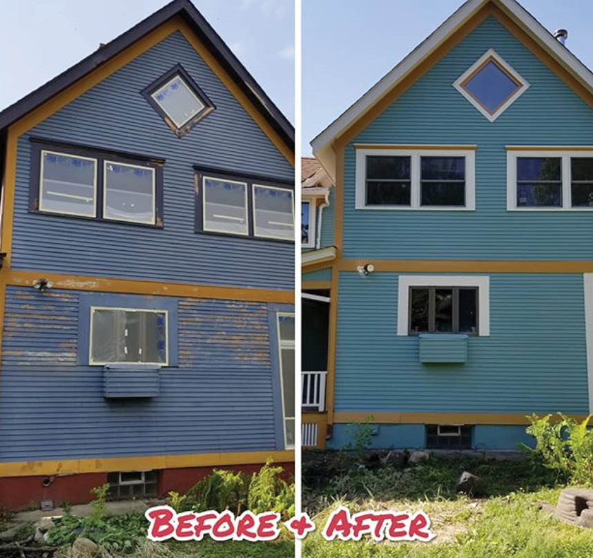 Before and after exterior home painting