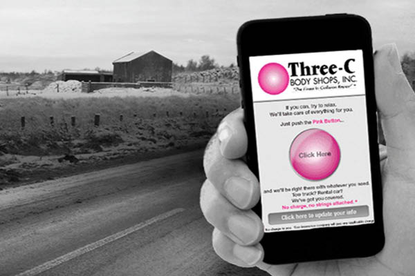 Three-C Body Shops Pink Button App
