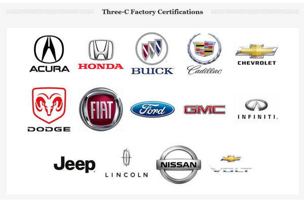 Three-C Body Shops factory certifications