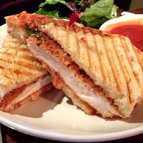 Chicken panini grilled just right at Tuscan Grill!