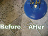 Tile and grout floor cleaning in Asheville