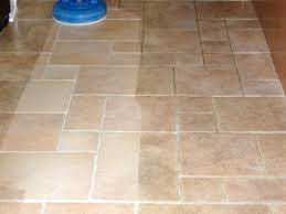 Before and after tile and grout cleaning services rendered near Palm Desert, CA
