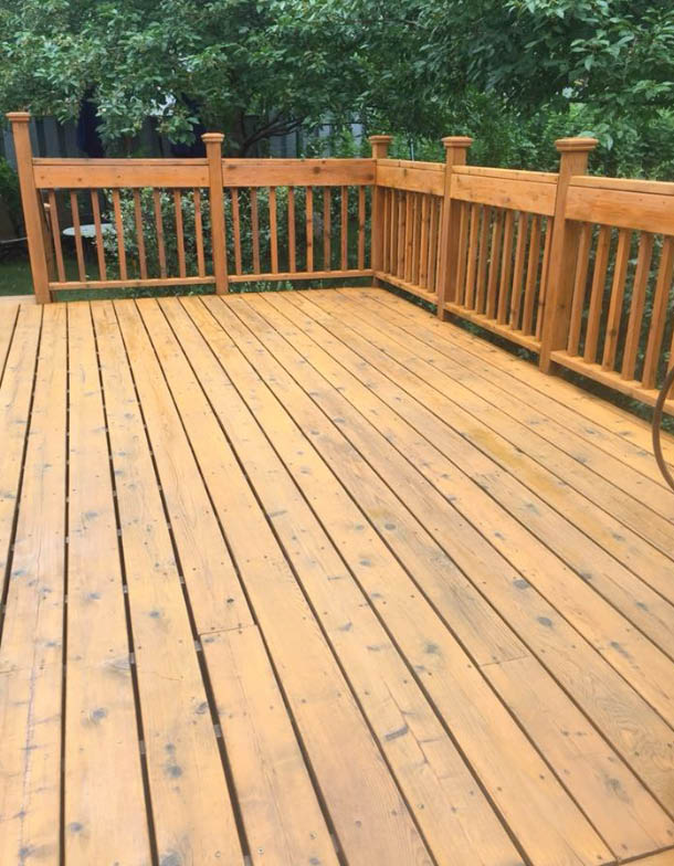 Deck staining & sealing near St. Paul