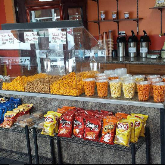 Popcorn display at Time 4 Sweets