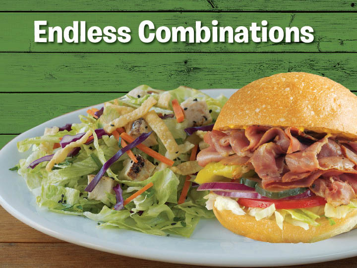 at Togo's Eatery santa rosa we offer endless combinations, soup, salad, sandwich