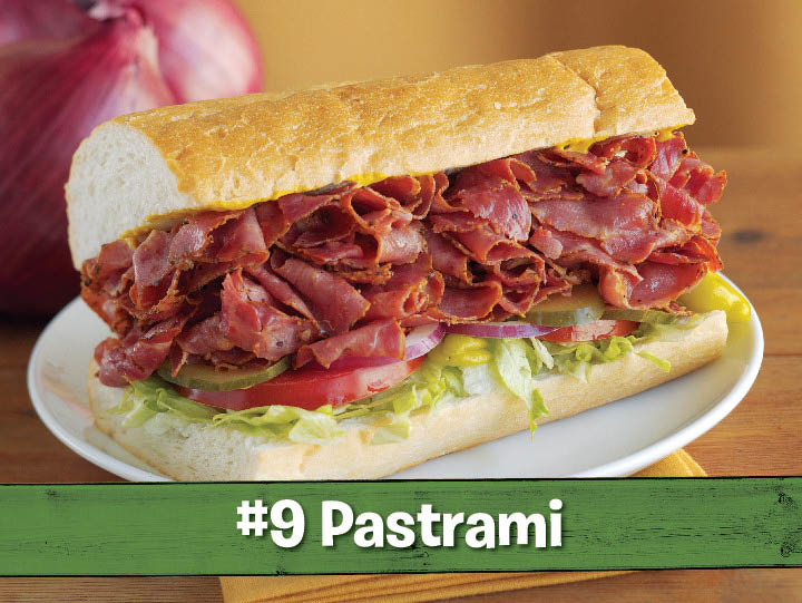Hot pastrami - #9, is an all-time Togo's favorite sandwich