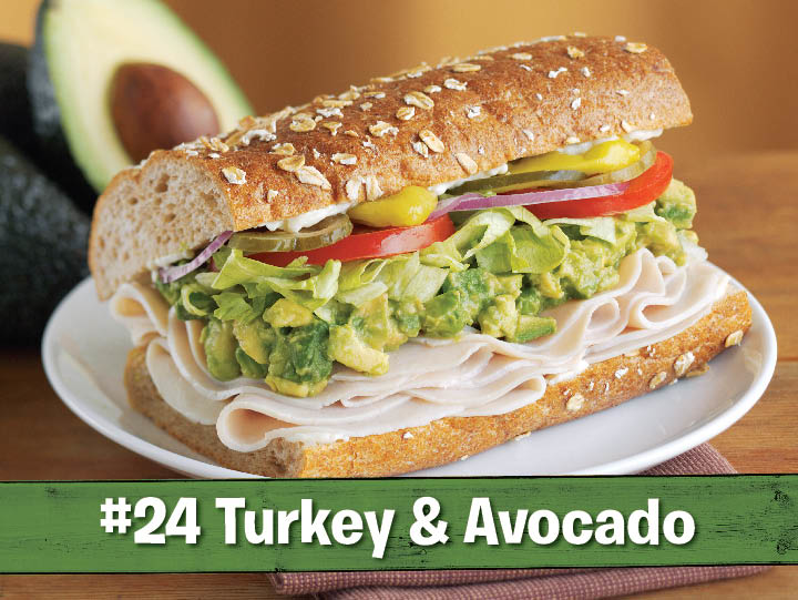 #24 on Togo's menu, the turkey and avocado sandwich at Togo's Eatery