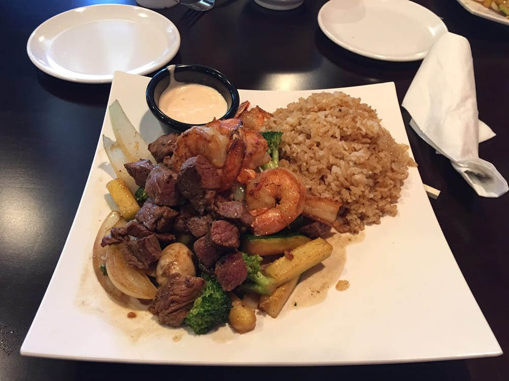 Tokyo Grill Hibachi & Shushi Picture of A Steak & Vegetable with Fried Rice Hibachi Plate
