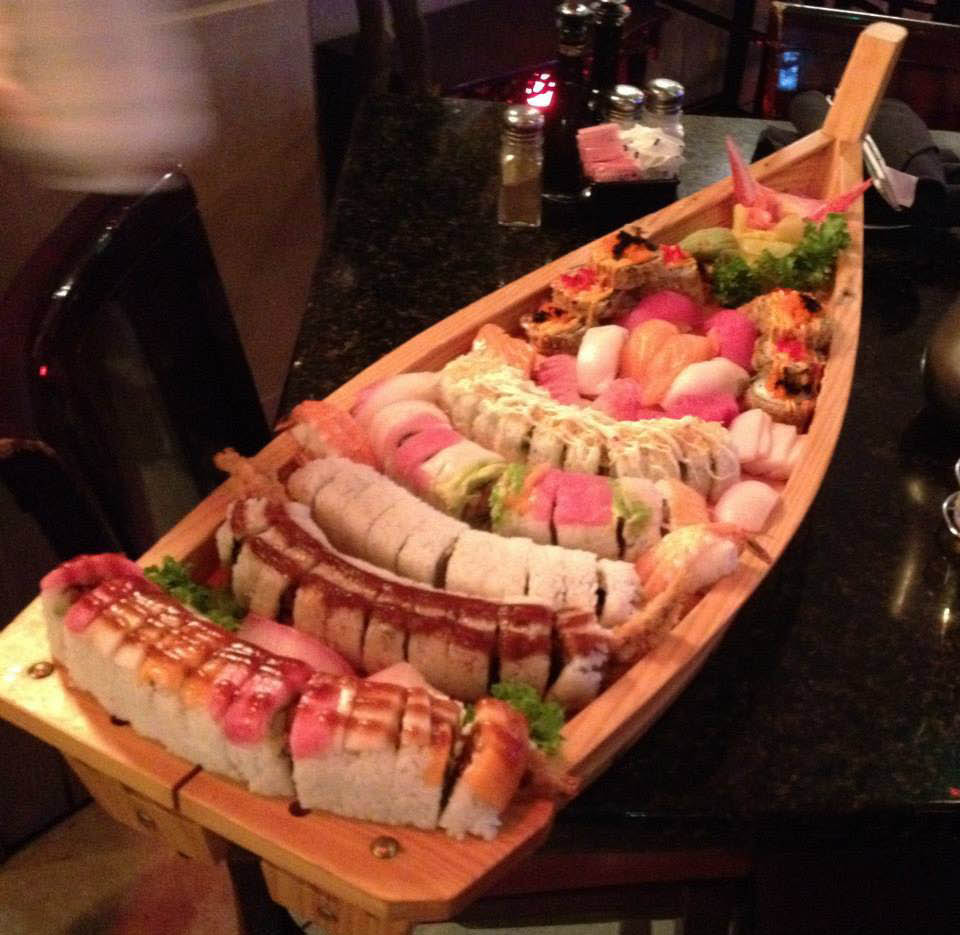 Don't miss the boat - a spectacular sushi and sashimi arrangement