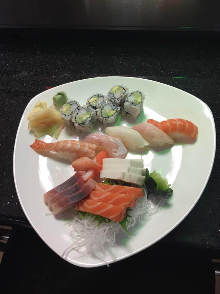 sashimi with jasmine rice; Tokyo Sushi & Hibachi in State College