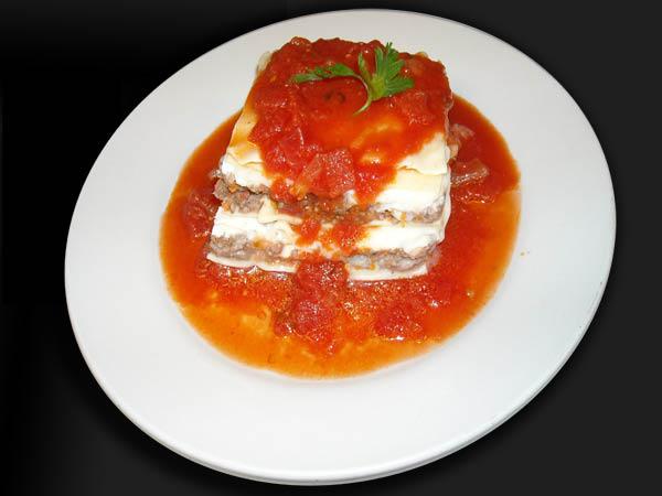 Try some Tonino's homemade Italian lasagna