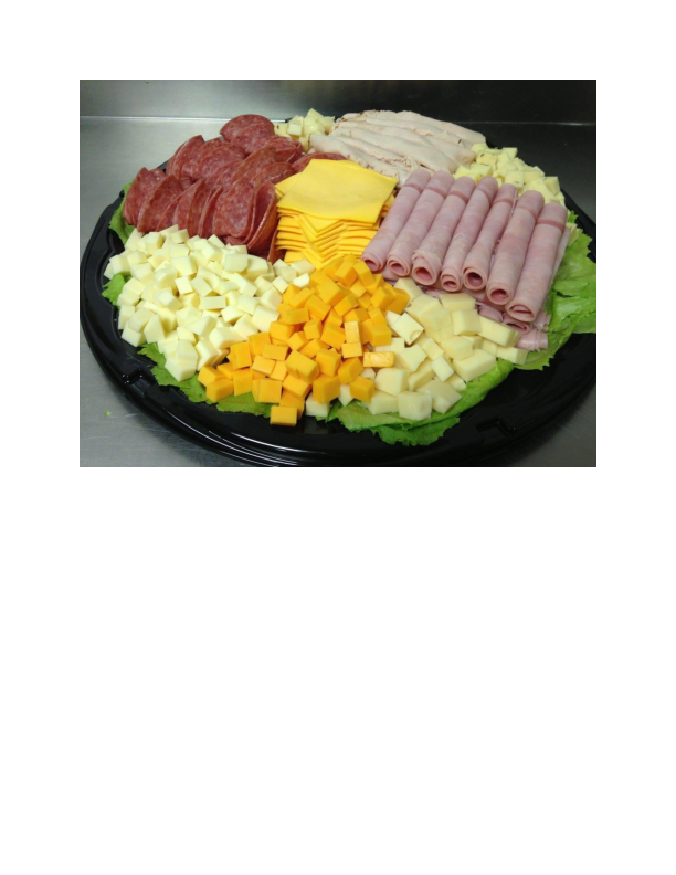 Cold cut platters prepared by Tony's Pizza & Pasta in Hamburg NJ