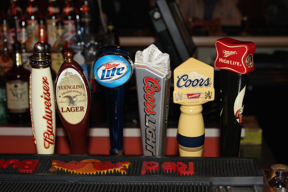 Plenty of ice cold draft beers on tap
