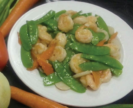 Shrimp dish with beans Chinese Cuisine from Top Wok