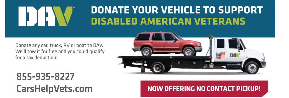 Disabled American Veterans - Car Donation banner