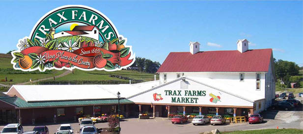 Outside of Trax Farms family owned farm market in Finleyville PA