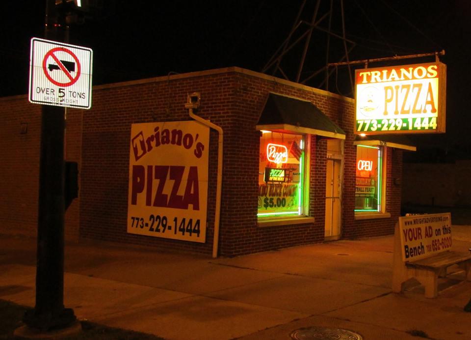 Exterior photo of Triano's Pizza in Chicago,IL.
