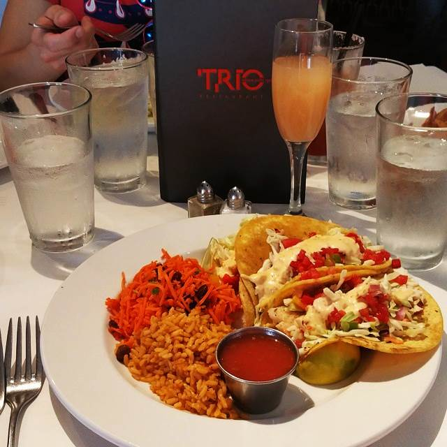 Try fresh fish tacos at Trio Restaurant in Palm Springs