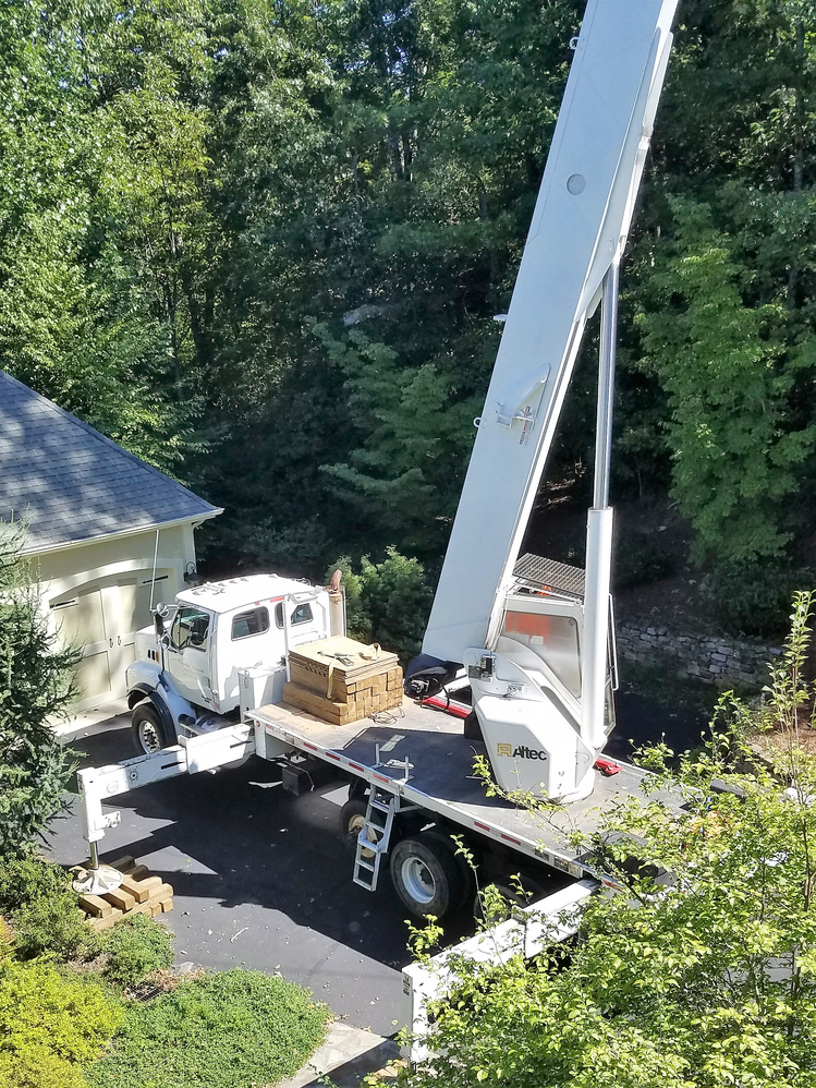 All American Tree Service crane work