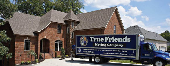 Moving truck of True Friends Moving Company in Nashville, TN