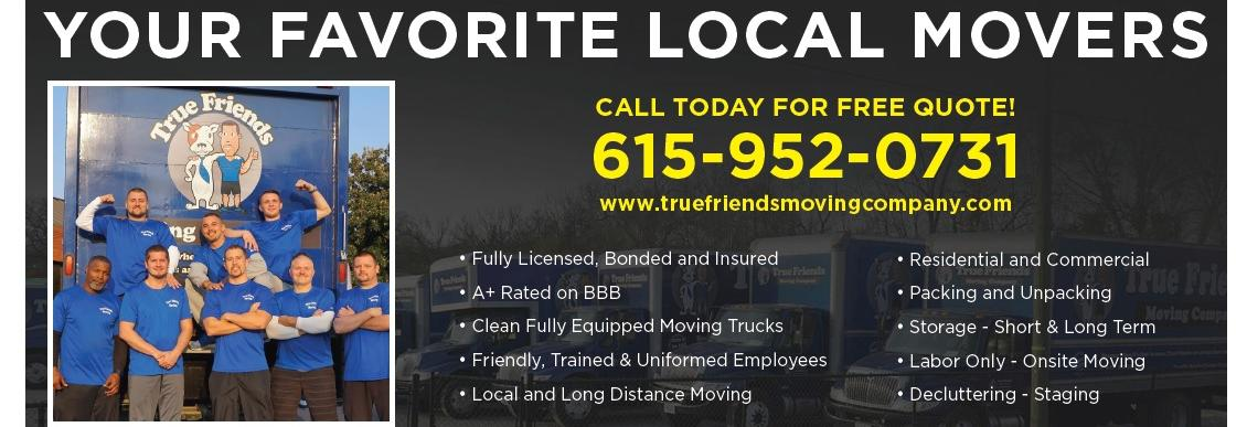 True Friends Moving Company in Nashville, TN banner