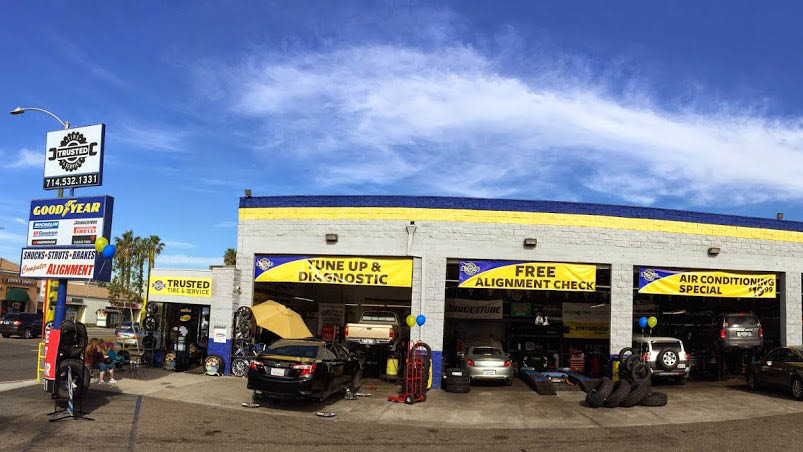 storefront Trusted Tire and Service in Orange, CA for Auto Repair & Service