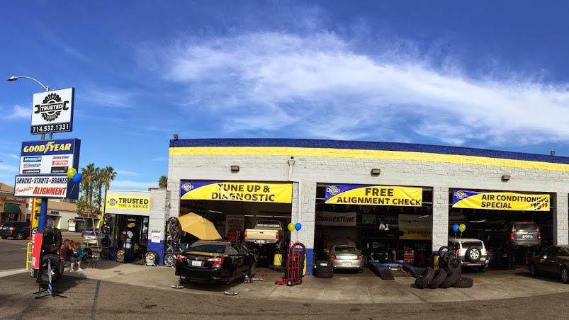 Exterior of Trusted Tire & Service in Orange, CA