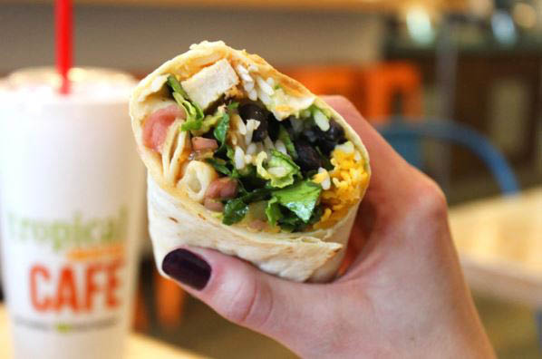 healthy wraps for lunch or dinner in West Des Moines, IA