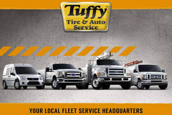 Tuffy business and fleet auto service.